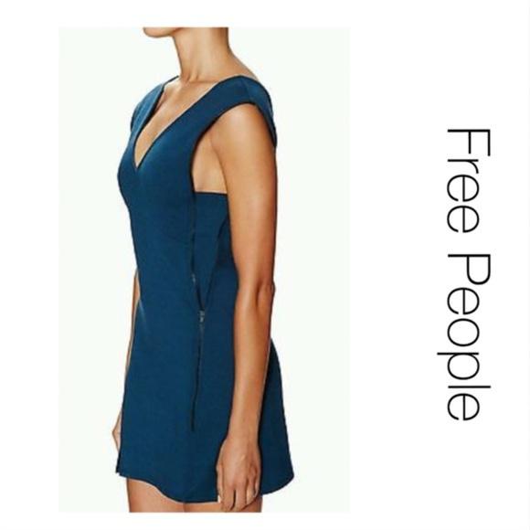 Free People Dresses & Skirts - NWT Free People Oslo Blue Zipper Dress Sz S